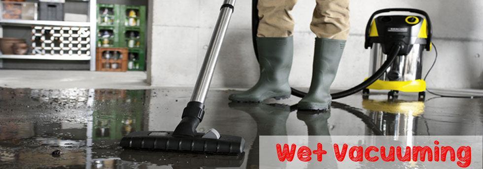 wet vacuuming